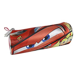 Cars- 3 3 Estuche portatodo cilíndrico, Color Rojo, 21 cm (Artesanía Cerdá 2100001846)