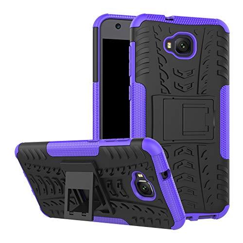 LFDZ ASUS Zenfone 4 Selfie Hülle, Abdeckung Cover schutzhülle Tough Strong Rugged Shock Proof Heavy Duty Case Für ASUS Zenfone 4 Selfie / ZD553KL Smartphone (mit 4in1 Geschenk verpackt),Violett