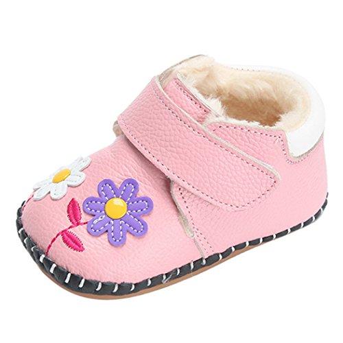 happy-cherry-neonata-bambina-invernali-scarpe-caldo-fodera-suola-antiscivolo-rosa-lunghezza-interno-