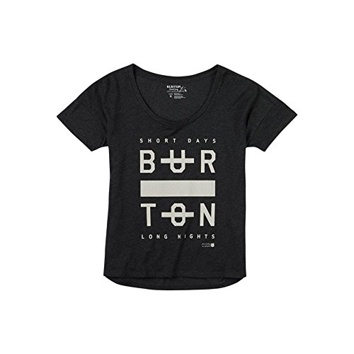 Burton Damen Never Sleep T-Shirt, True Black Heather, S (True-fit-camo-t-shirts)