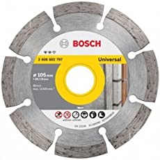 Bosch AG4CCO10PCS Diamond Cutting Disc 105 mm X 20 or 16 mm with 1 Bore Adjusting Washer Pack of 10 Pieces