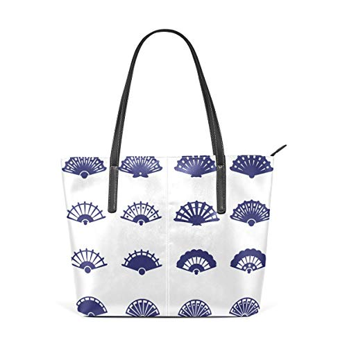 Mode Handtaschen Einkaufstasche Top Griff Umhängetaschen Asian Style Holiday Blessing Fan Large Printed Shoulder Bags Handbag Top Handle Satchel Purse Lightweight Work Tote Bag For Women Girls