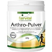 fairvital - Polvere Arthro - Collagene, glucosamina, condroitina per le articolazioni - 400 gr