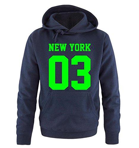 Comedy Shirts -  Felpa con cappuccio  - Maniche lunghe  - Uomo navy / neon green