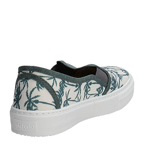 Victoria Slip On Estamp Tropicales, Unisex-Erwachsene High-Top Sneaker Weiß