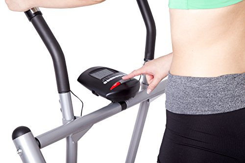 41YvoCMZshL - SportPlus Air Walker - Nordic Walker Machine with Training Computer - Max. User Weight 100 kg - Foldable