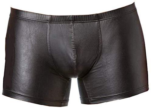 Verano Latex ähnliche Herren Shorts - Vinyl Wetlook Shorts, XL, Schwarz -
