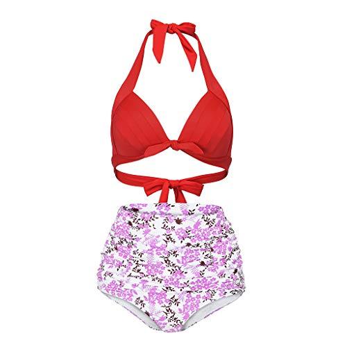a0e779aa3c943 ChallengE Sujetador Push-up de Dos Piezas de Flor para Mujer Conjunto de Bikini  Traje