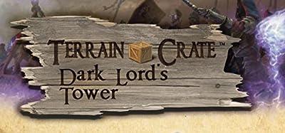 Mantic - KSTCD108 - Caisse de Terrain - Caisses Forteresse des Seigneurs Noirs - Terrain Scenery pour Miniatures de Table 28mm Miniatures Wargame