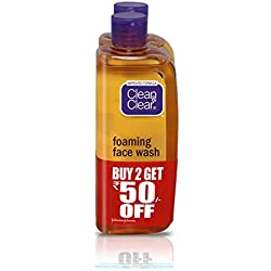 Clean & Clear Foaming Facewash, 150ml (Rupees 50 off, Pack of 2)
