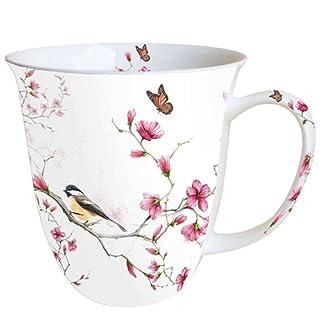 Ambiente Becher - Mug - Tasse - Tee/Kaffee Becher ca. 0,4L Bird & Blossom White