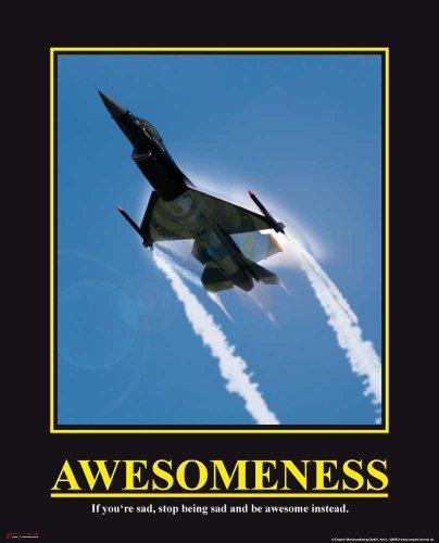 empireposter - Motivational Awesomeness - Awesomeness - Jet - Größe (cm), ca. 40x50 - Mini-Poster, NEU - - Mini-poster