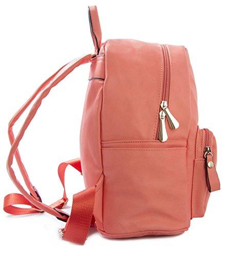 Big Handbag Shop - Borsa a Zainetto donna (rosa)