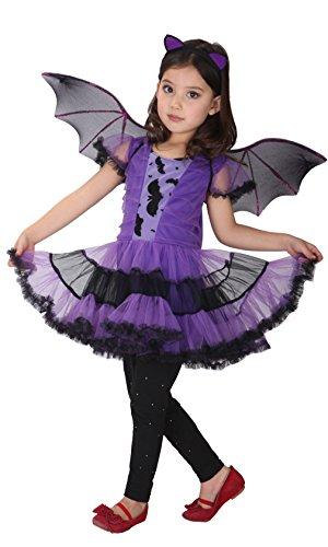 Vampir Fledermaus Kostüm Halloween Flügel Kleid Fasching (Machen Fledermaus Flügel Halloween Kostüm)