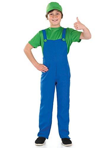 Boys Toys - Disfraz de súper Mario Bros para niño, talla L (8 - 10 años) (2986-400L)