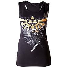 Zelda - Camiseta nadadora - Link con Master - mujer - negro - M