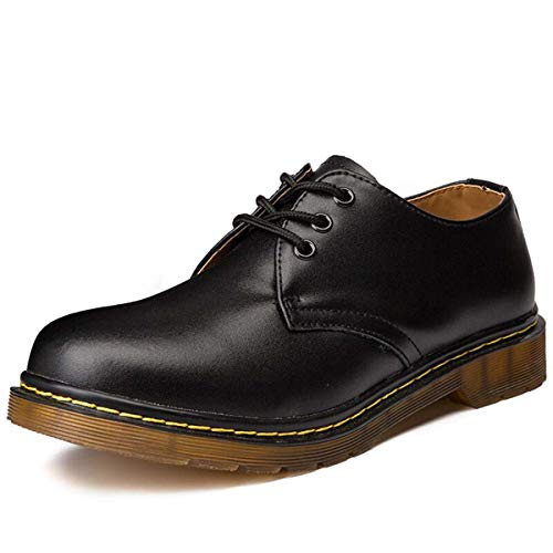 Big Size Brand 1461 Breathable Men's Oxford Shoes Dress Shoes Men Flats Fashion Genuine Leather Casual Shoes Work Shoes Black 13