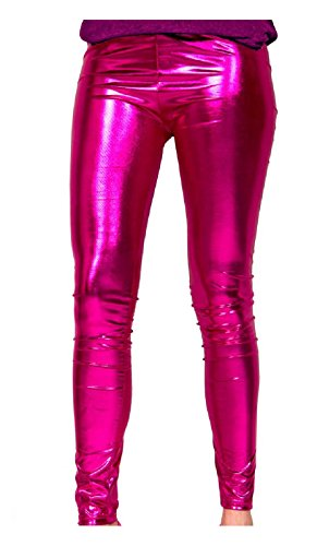 Folat 61717 - Magenta Metallic Leggings, - Bad Taste Kostüm