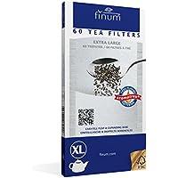 Finum - Filtros papel para té ,60 unidades, talla XL