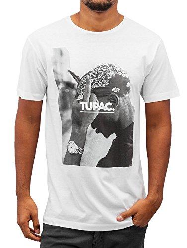 bb52786d3b49a Mister Tee Men Overwear T-Shirt 2Pac F ck The World White 5XL