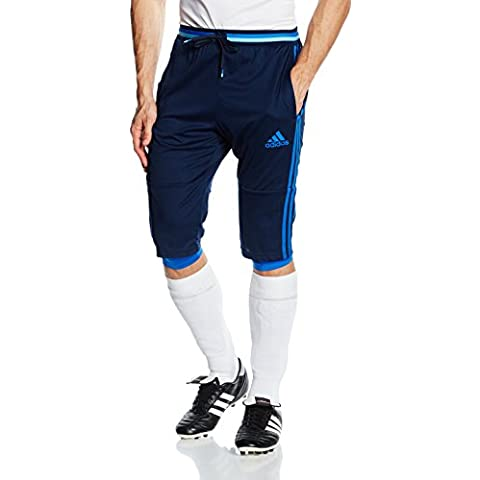 adidas adultos Pantalones de deporte 3/4, primavera/verano, hombre, color Azul - Collegiate Navy/Blue, tamaño S