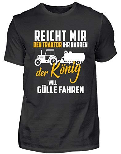 Landwirt Shirt · Trecker · Traktor · Geschenk für Bauern · Spruch: Traktor Ihr Narren - Herren Shirt -XL-Schwarz