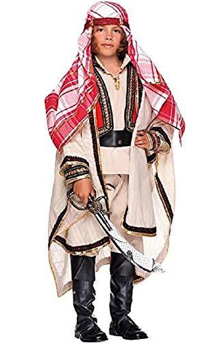 Fancy Me Italienisches Kostüm für Jungen, Deluxe arabischer Ritter, arabisches Nationalkleid, Karneval, Weihnachten, Kostüm, Outfit, 3-10