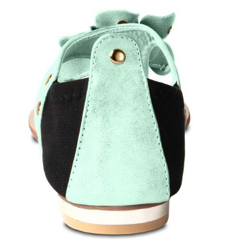 CASPAR Fashion, Infradito donna Verde (Menta)