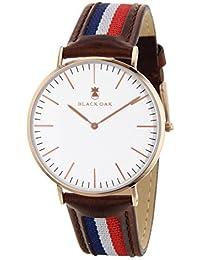 BLACK OAK Reloj con movimiento cuarzo japonés Man BX5890R-138 40 mm