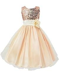 efd21e589f LSERVER-Vestido de Lentejuelas Sin Mangas Para Las Niñas Princesas