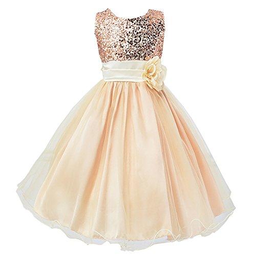 Lserver-ragazze vestito festa da principessa paillettes matrimonio farfalla e fiore vestito per compleanno partito festa nuziale prom