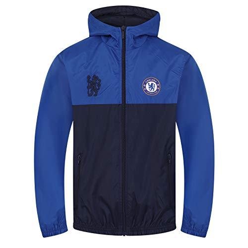 1e99e86709 Chelsea FC - Chaqueta cortavientos oficial - Para niño - Impermeable -  Estilo retro - 12