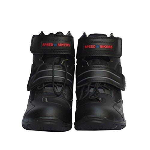 LKN Motorradschuhe Motocross Stiefel Schutzausrüstung Schwarz