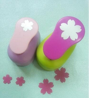 seit 2(2,5cm, 1,6cm) Sakura Form Craft Punch Set Punch Craft Scrapbooking Schule Papier Reifenplatzer EVA Locher -