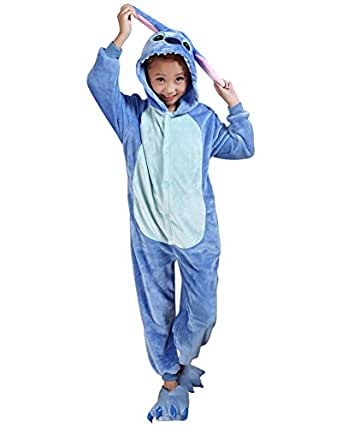 Molly Pyjama Pour Enfants Cartoon Cosplay Costumes Onesie Animaux Noël Siamois Blue 85