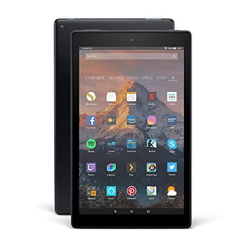 Fire HD 10-Tablet, 1080p Full HD-Display, 32 GB, Schwarz, mit Spezialangeboten - Kindle-version Fall 2