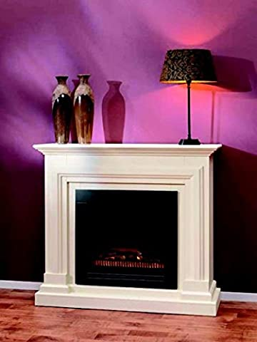 Casa Padrino Art Nouveau electric fireplace cream B 115 x H 104 x D 38 cm - Electric fireplace - Living room Antique style