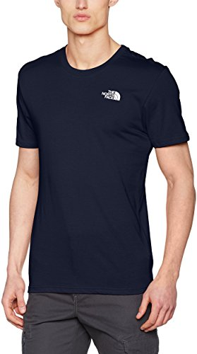 The north face, m ss simple dome tee, maglietta a maniche corte, uomo, blu (urban navy/white), s