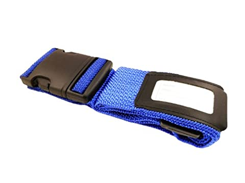 Adjustable Luggage Strap with Name Tag