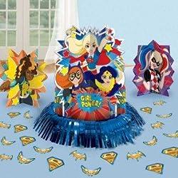 Decoración de mesa femenina, con diseño de superheroínas de DC Comics