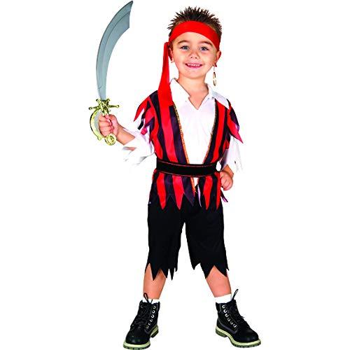 Bodysocks Fancy Dress Pirat der Sieben Weltmeere Jungen-Kostüm für Kinder (4-6 ()