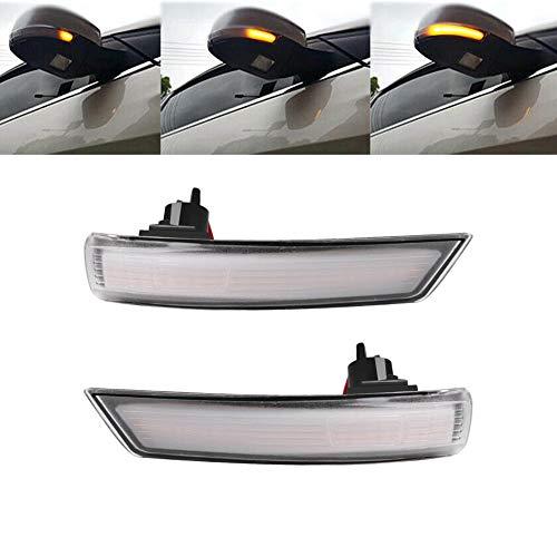 FANMURAN Lampadine per Indicatori di Direzione Auto Frecce LED Faretti Universale Segnale Retrovisore Dinamico 2PZ 2011-2015