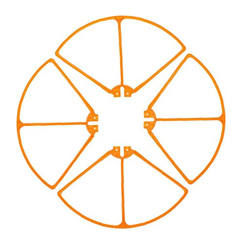 Amazingbuy - Syma X8HC X8HW X8HG X8C X8W X8G RC Drone Quadcopter Original Spare Parts - Props Protective Frame Blade Guards Propeller Protector Replacement - Orange Color