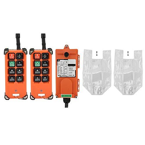Keenso F21-E1B Drahtlose Industrielle Fernbedienung Elektrische Hoist Fernbedienung 2 Sender + 1 Empfänger 380 V (380 V Zwei Sender Ein Empfänger)