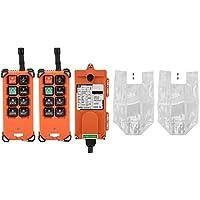 Keenso Industrial Remote Control System Wasserdichtes Funk-Funkfernbedienungssender und -empfänger Industrielle Kanalzugkran-Funkfernbedienung 2 Sender 1 Empfänger
