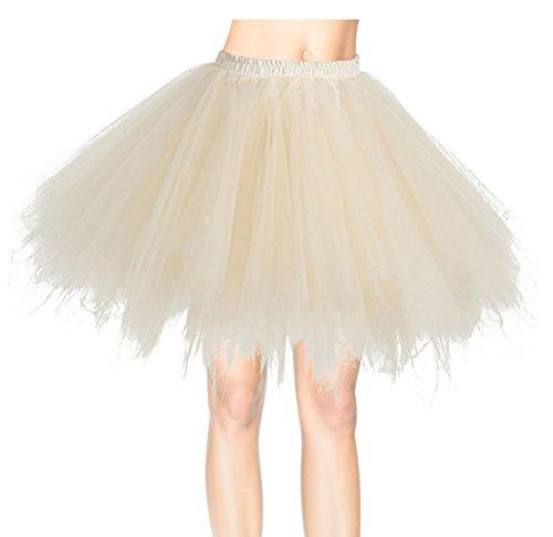 Kostüme Mädchen Jazz Tanz Für (Dresstells Damen Tutu Unterkleid Kurz Ballett Tanzkleid Ballklei Abendkleid Gelegenheit Zubehör Champagne)