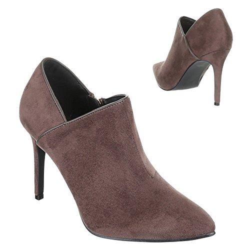 Damen Schuhe 71 Ek Hellbraun Boots Pumps Ankle OgqOwHnr