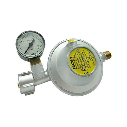 GOK Caravanregler 30 mbar 1,2 kg/h mit Manometer
