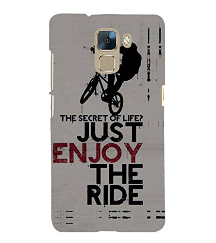 Fiobs Designer Phone Back Case Cover Huawei Honor 7 :: Huawei Honor 7 (Enhanced Edition) :: Huawei Honor 7 Dual SIM ( Stunt Rider Bike Cycle Racer )  available at amazon for Rs.397