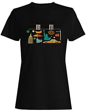 Nuevo Amor Nueva York Usa camiseta de las mujeres m458f